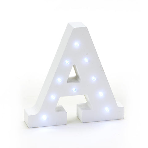Wooden Marquee LED Letters White