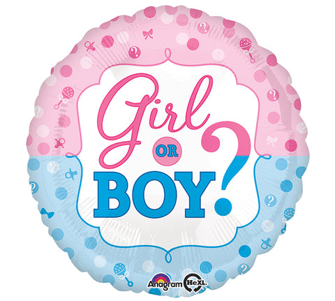 "17"" Pkg Baby Gender Reveal Balloon, [Premier Gifts and Balloons], Balloons, Premier Gifts 'n Balloons"