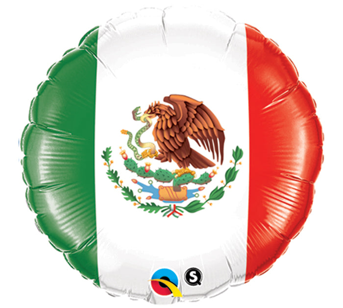"18"" Spanish Mexico Flag Balloon, [Premier Gifts and Balloons], Balloons, Premier Gifts 'n Balloons"