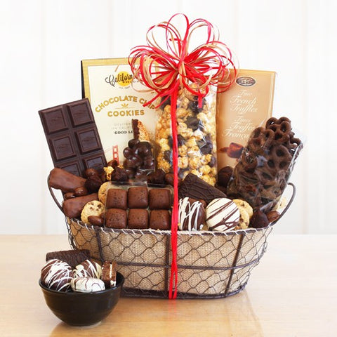 Chocolate Delights Basket, [Premier Gifts and Balloons], Gift Basket, Premier Gifts 'n Balloons