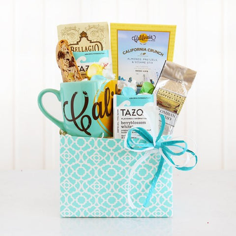 California Greetings Tea and Coffee, [Premier Gifts and Balloons], Gift Basket, Premier Gifts 'n Balloons
