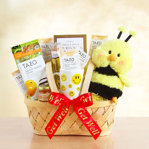 Bee Well Gift Basket, [Premier Gifts and Balloons], Gift Basket, Premier Gifts 'n Balloons