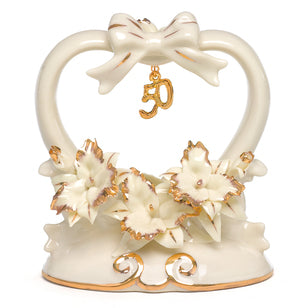 50th Anniversary Cake Top, [Premier Gifts and Balloons], Bridal Accessories, Premier Gifts 'n Balloons