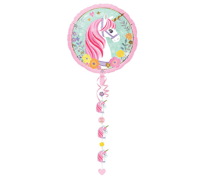 "90"" Pkg Magical Unicorn Line Balloon, [Premier Gifts and Balloons], Balloons, Premier Gifts 'n Balloons"