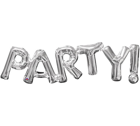 "33"" Pkg Party Silver Phrase Balloon, [Premier Gifts and Balloons], Balloons, Premier Gifts 'n Balloons"