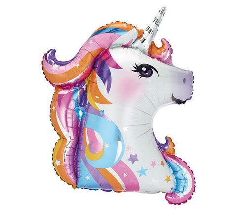 "36"" Pkg Unicorn Head Foil Balloon"