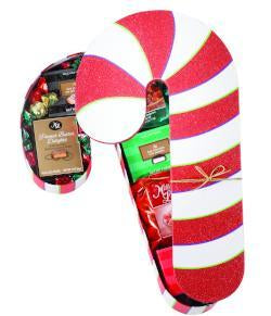Candy Cane Gift Box, [Premier Gifts and Balloons], Gift Basket, Premier Gifts 'n Balloons