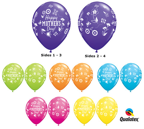 "11"" HMD Spring Color Latex Balloon-Pkg & Bouquet"