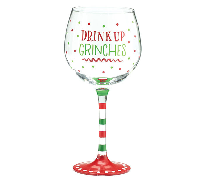 Drink Up Holiday Stem Glass