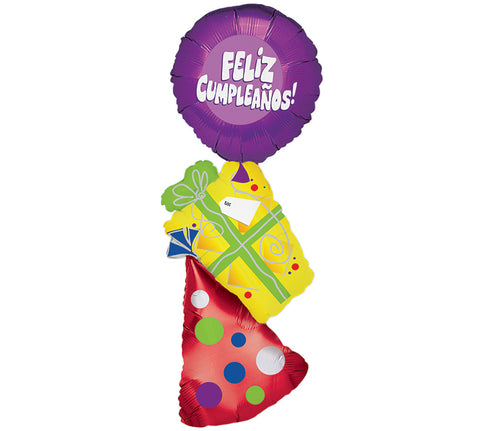 "46"" Pkg HBD Spanish Balloon, [Premier Gifts and Balloons], Balloons, Premier Gifts 'n Balloons"