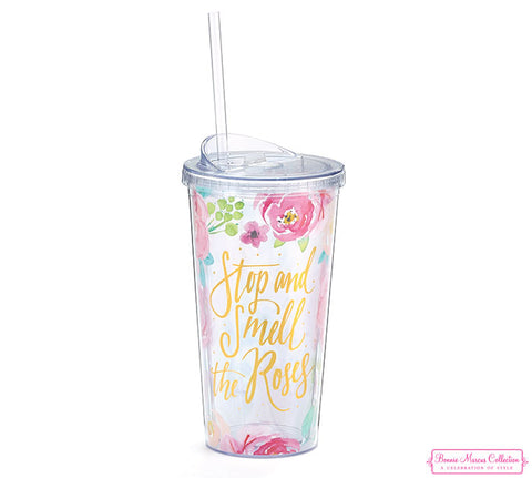 Smell The Roses Travel Cup