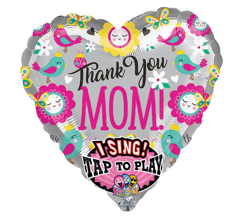 "28"" Pkg Mother's Day Sing Balloon"