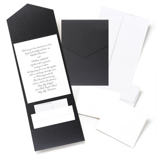 Black Shimmer DIY Invitation Kit, [Premier Gifts and Balloons], Bridal Accessories, Premier Gifts 'n Balloons