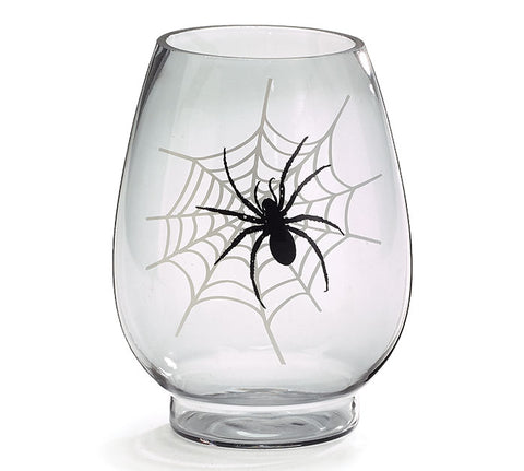Spider Web Glass Vase