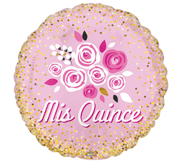 "17"" Spanish MIS Quince Foil Balloon, [Premier Gifts and Balloons], Balloons, Premier Gifts 'n Balloons"