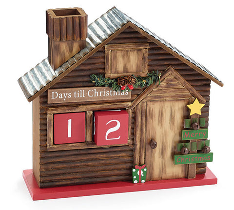 Log Cabin Holiday Countdown, [Premier Gifts and Balloons], Seasonal, Premier Gifts 'n Balloons