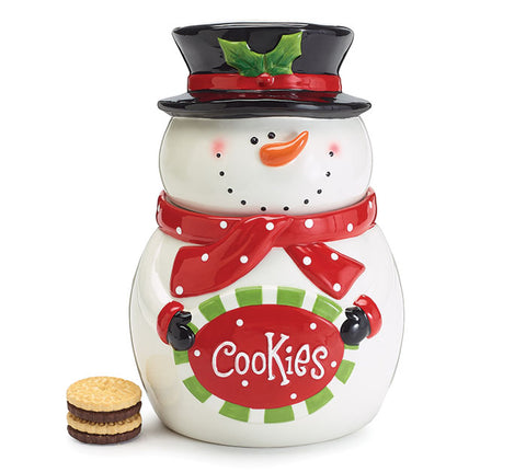 Snowman Sign Cookie Jar