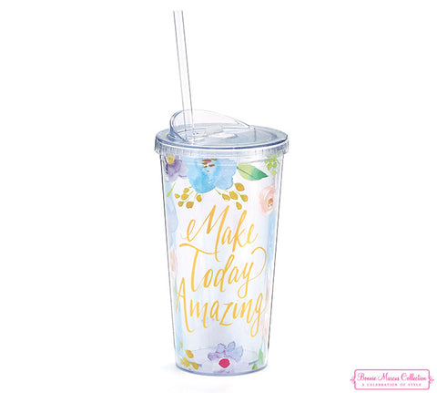 Make Today Amazing Travel Cup, [Premier Gifts and Balloons], Drinkware, Premier Gifts 'n Balloons