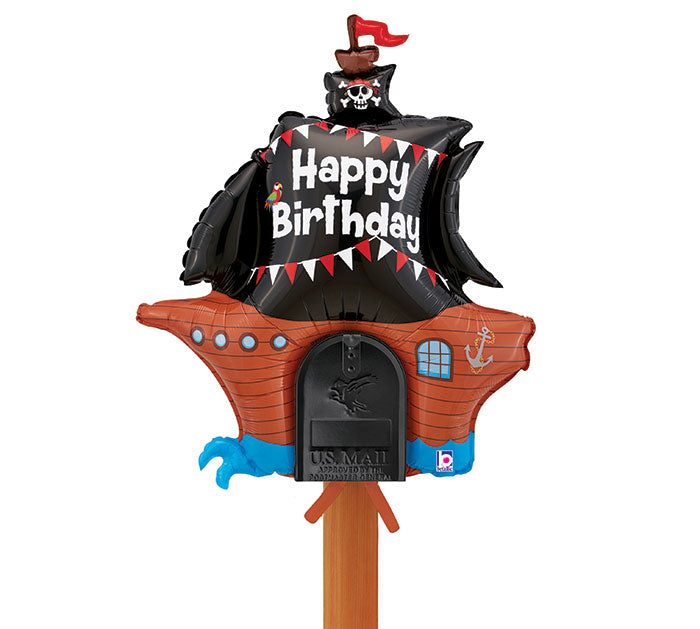 "34"" Pkg Pirate Mailbox Balloon, [Premier Gifts and Balloons], Balloons, Premier Gifts 'n Balloons"