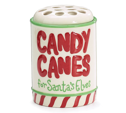 Candy Cane Ceramic Holder, [Premier Gifts and Balloons], Drinkware, Premier Gifts 'n Balloons