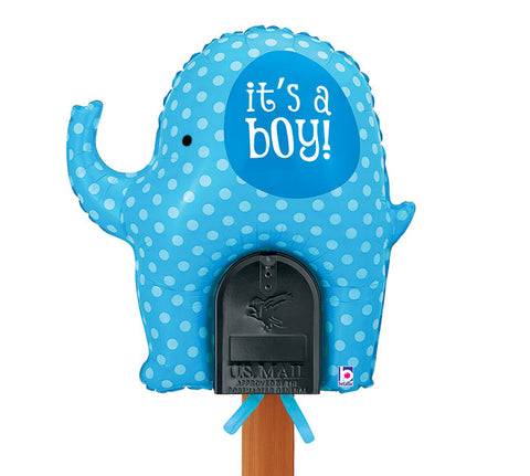 "31"" Pkg It's A Boy Mailbox Balloon, [Premier Gifts and Balloons], Balloons, Premier Gifts 'n Balloons"