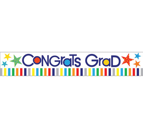 50 YD Congrats Grad Banner, [Premier Gifts and Balloons], Balloons, Premier Gifts 'n Balloons