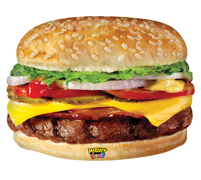 "31"" Pkg Mighty Cheeseburger Balloon, [Premier Gifts and Balloons], Balloons, Premier Gifts 'n Balloons"