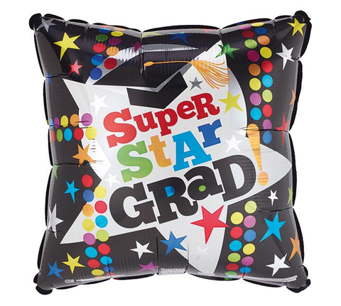 "17"" Graduation Star Foil Balloon, [Premier Gifts and Balloons], Balloons, Premier Gifts 'n Balloons"