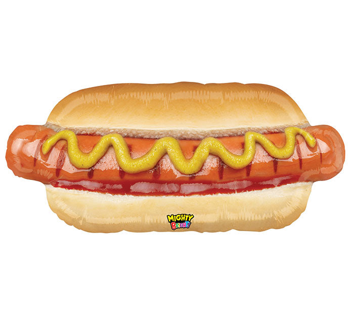 "34"" Pkg Mighty Hotdog Balloon, [Premier Gifts and Balloons], Balloons, Premier Gifts 'n Balloons"
