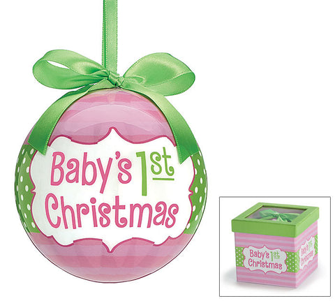 Baby 1st Christmas Girl Ornament