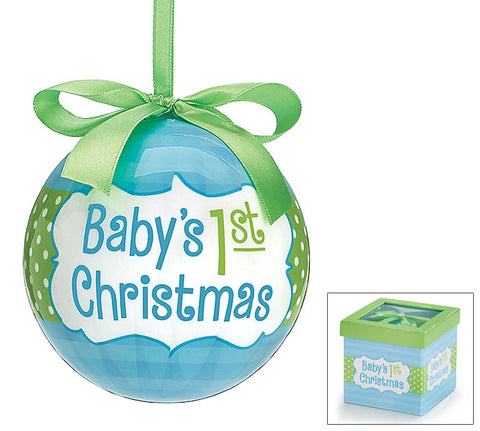 Baby 1st Christmas Boy Ornament