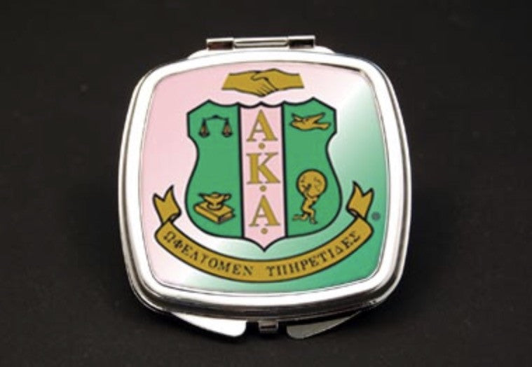 Alpha Kappa Alpha Dual Mirror Compact, [Premier Gifts and Balloons], Greek, Premier Gifts 'n Balloons