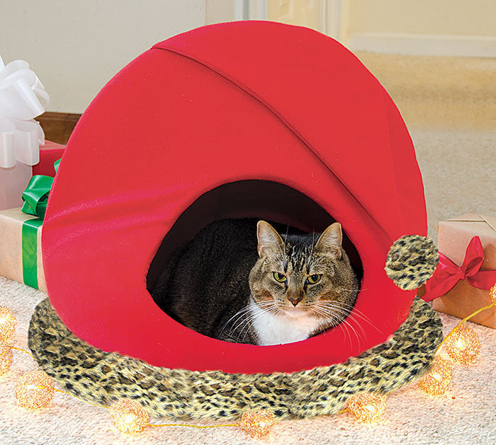 Santa Hat Pet Bed, [Premier Gifts and Balloons], For Pets, Premier Gifts 'n Balloons