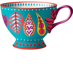 Painted Leaves Mug, [Premier Gifts and Balloons], Home Decor, Premier Gifts 'n Balloons
