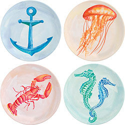 Watercolor Seaside Plates, [Premier Gifts and Balloons], Home Decor, Premier Gifts 'n Balloons