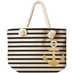 Anchor Stripe Tote, [Premier Gifts and Balloons], Accessories, Premier Gifts 'n Balloons