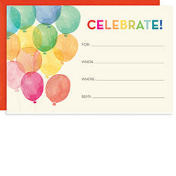 Balloons A9 Invite, [Premier Gifts and Balloons], Stationary, Premier Gifts 'n Balloons