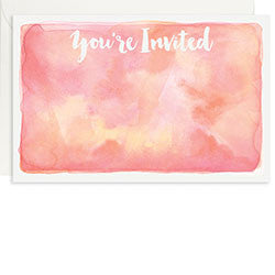 Watercolor A9 Invite, [Premier Gifts and Balloons], Stationary, Premier Gifts 'n Balloons