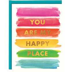 Rainbow Happy Place Foil A2 Card, [Premier Gifts and Balloons], Stationary, Premier Gifts 'n Balloons