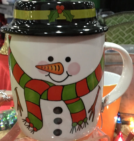 Snowman Mug with Lid, [Premier Gifts and Balloons], Drinkware, Premier Gifts 'n Balloons