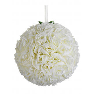 "12"" Rose Kissing Ball- Rental, [Premier Gifts and Balloons], Event Decorations, Premier Gifts 'n Balloons"