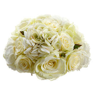 "10"" Rose/Hydrangea Half Ball, [Premier Gifts and Balloons], Floral, Premier Gifts 'n Balloons"