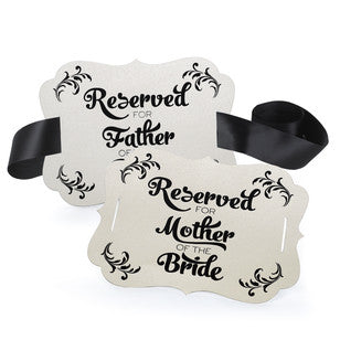 Parents of the Bride Reserved Chair Decoration