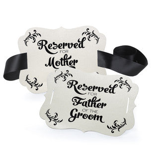 Parents of the Groom Reserved Chair Decoration