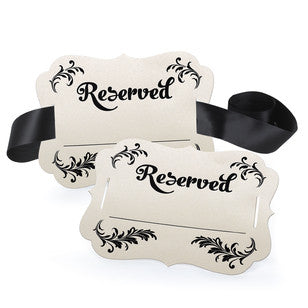 Fill in the Blank Reserved Chair Decoration, [Premier Gifts and Balloons], Event Decorations, Premier Gifts 'n Balloons