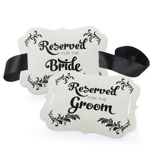 Charming Vintage Bride & Groom Signs, [Premier Gifts and Balloons], Event Decorations, Premier Gifts 'n Balloons