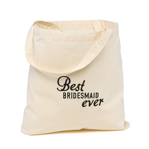 Best Bridesmaid Ever Wedding Party Tote, [Premier Gifts and Balloons], Accessories, Premier Gifts 'n Balloons