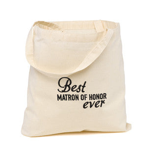 Matron of Honor Best Ever Wedding Party Tote Bag, [Premier Gifts and Balloons], Event Decorations, Premier Gifts 'n Balloons