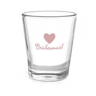 Bridesmaid Heart Wedding Party Shot Glass