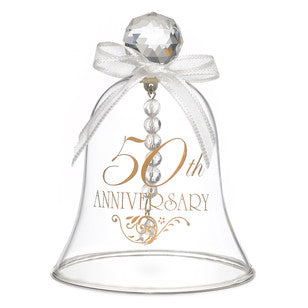 50th Anniversary - Glass Bell, [Premier Gifts and Balloons], Wedding Gifts, Premier Gifts 'n Balloons